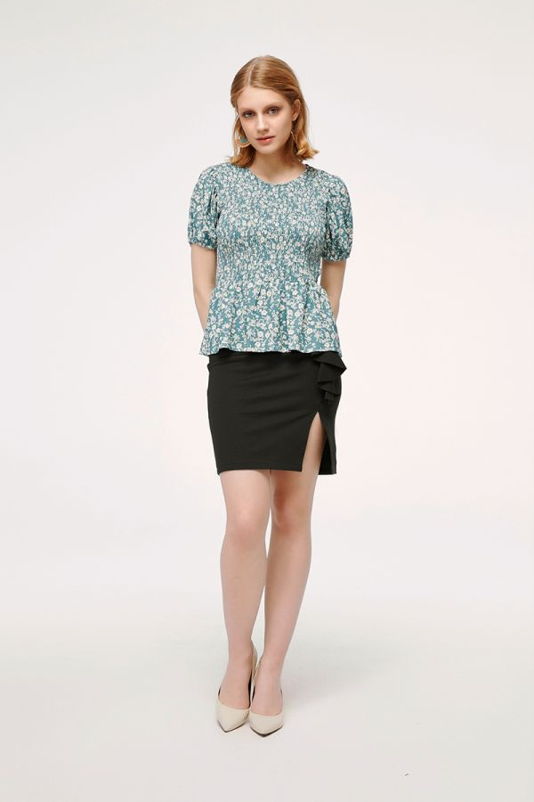 IVY SIDE SLIT PENCIL SKIRT (324128)