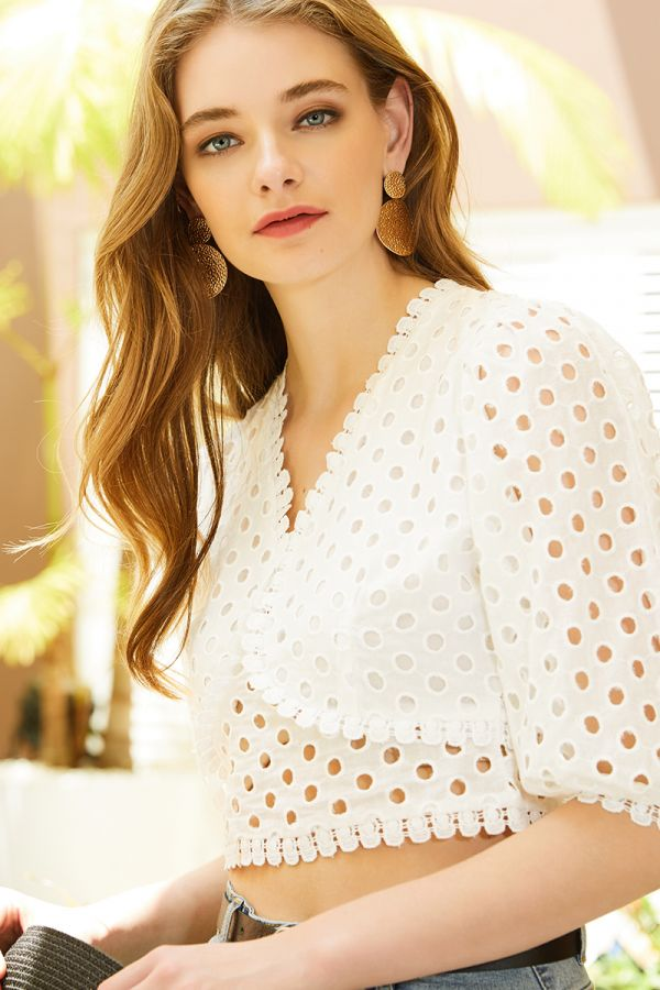 SOFIE BRODERIE TOP (324257)