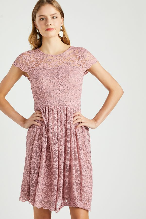 FIT AND FLARE LACE DRESS (324271)