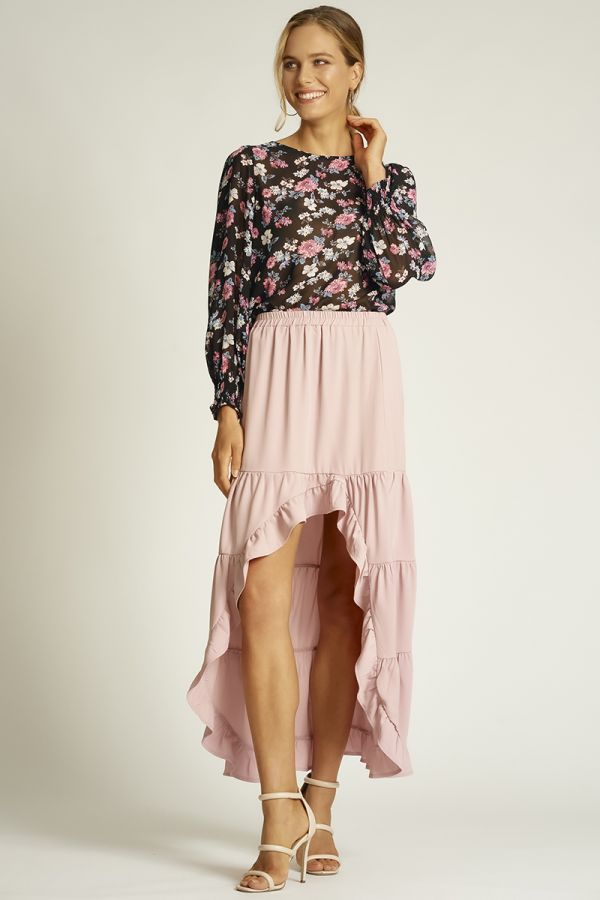 TIERED SKIRT WITH RUFFLES (324501)