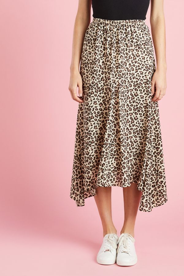 BIAS CUT PRINTED SKIRT (324507)