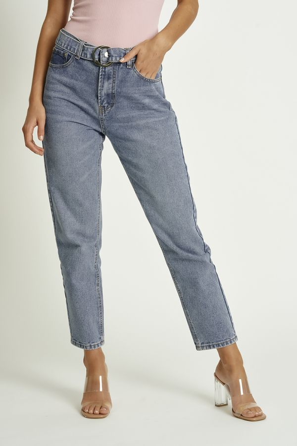 BELTED BAGGY JEAN (324530)