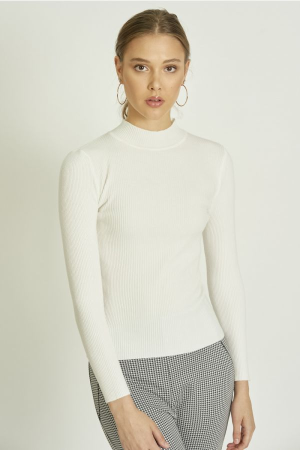 RIBBED BASIC KNOT TOP  (324636)