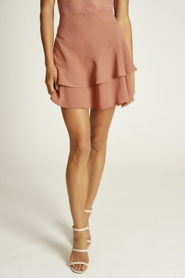 FRILL MINI FLARE SKIRT (324704)