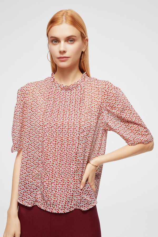 PLEATED PRINT TOP (324709)