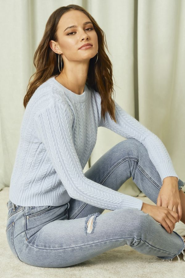 CABLE KNIT TOP (324717)