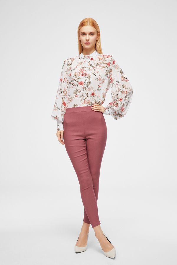 TUCK FRONT PRINTED TOP  (324764)
