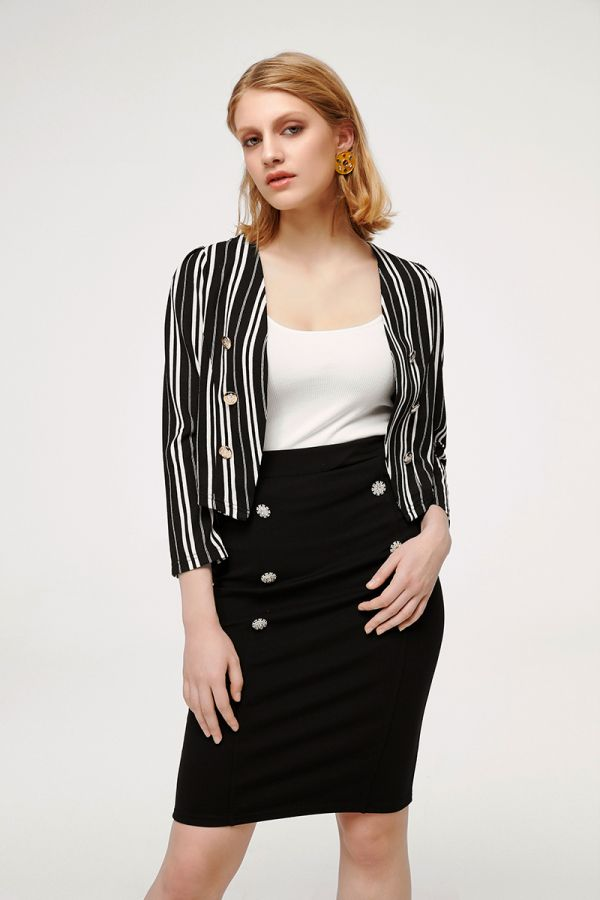 MILAN LONG SLEEVE CROP JACKET (324767)