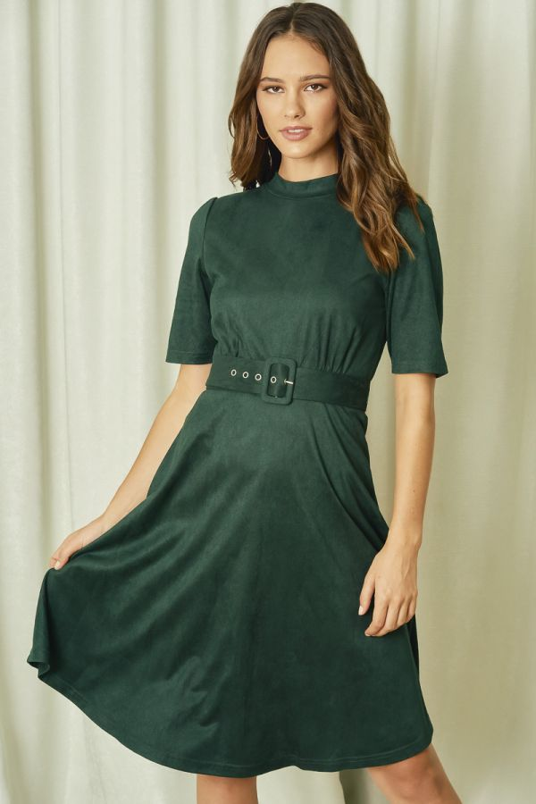 BELTED C&S DRESS (324828)