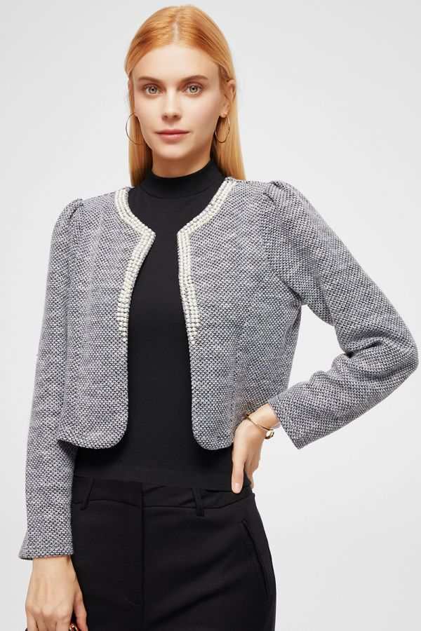EMBELLISHMENT NECK JACKET (324854)