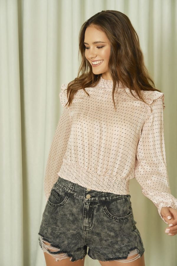 TEXTURED FABRIC TOP (324855)