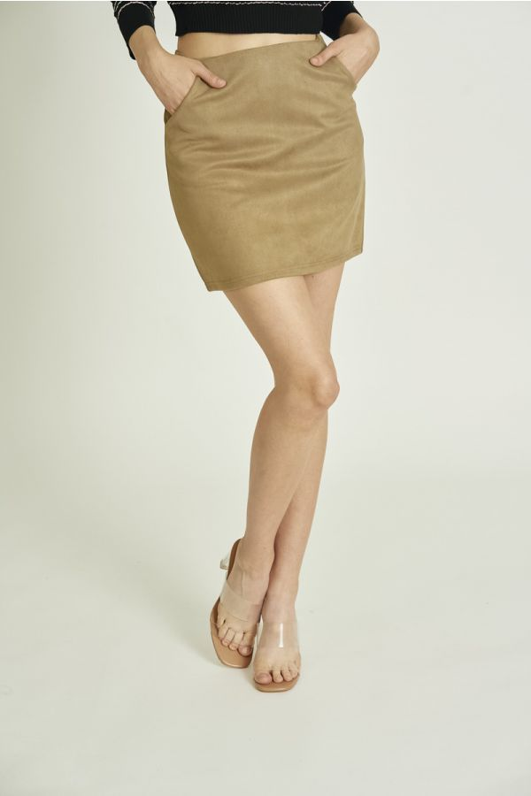 MINI SUEDE SKIRT (324903)