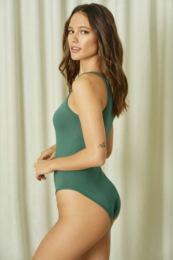 NARROW NECK BODY SUIT (324929)