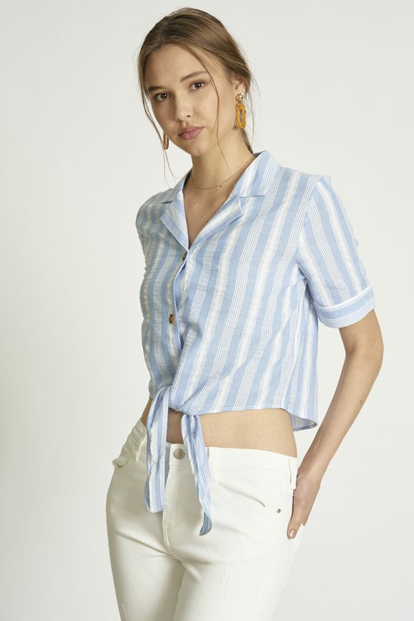 STRIPE SHORT SLEEVE SHIRTS (324934)