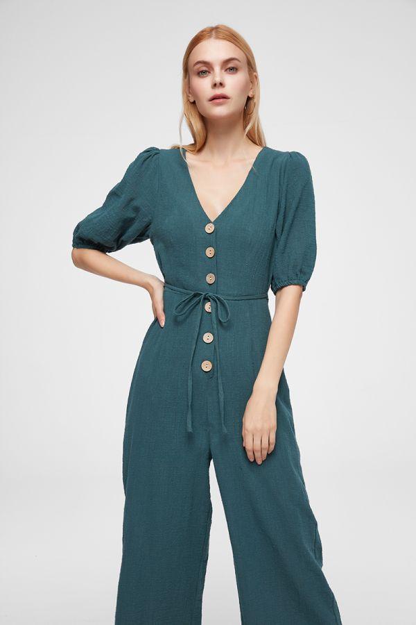 VENICE PUFF SLEEVE JUMPSUIT (324989)