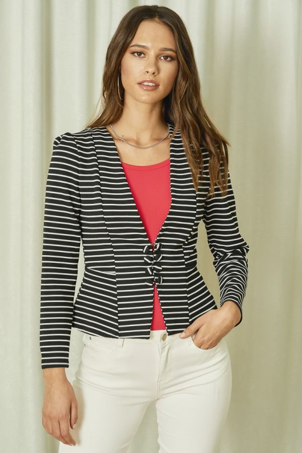BUTTON DOWN SHORT JACKET (324994)