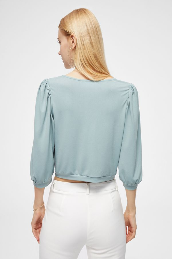 TWISTED FRONT 3/4 SLVS TOP (325054)