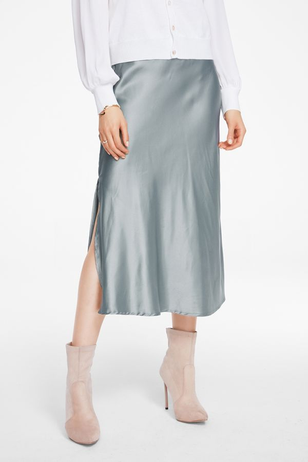 SATIN SLIP SKIRT (325101)