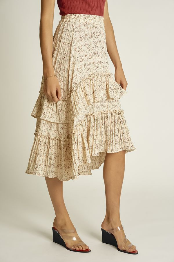 DITSY FLORAL PLEATED SKIRT (325109)