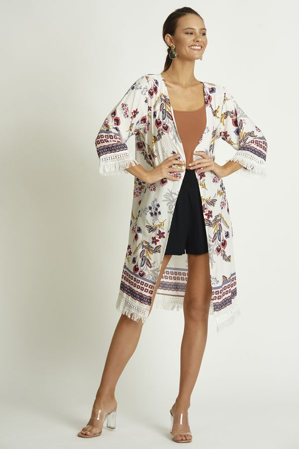 LACE ZIP UP CARDIGAN (325168)