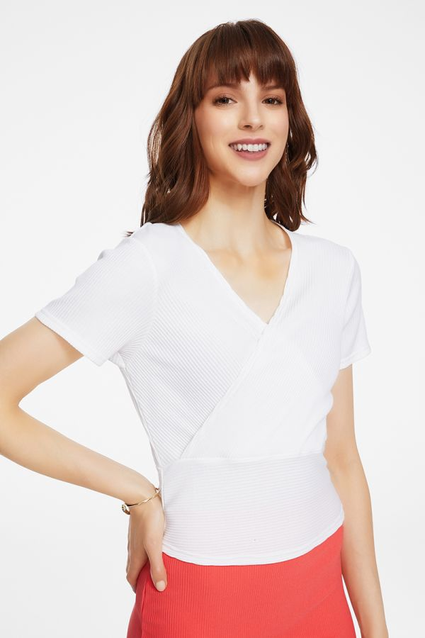 OVERLAPPED JERSEY TOP  (325202)
