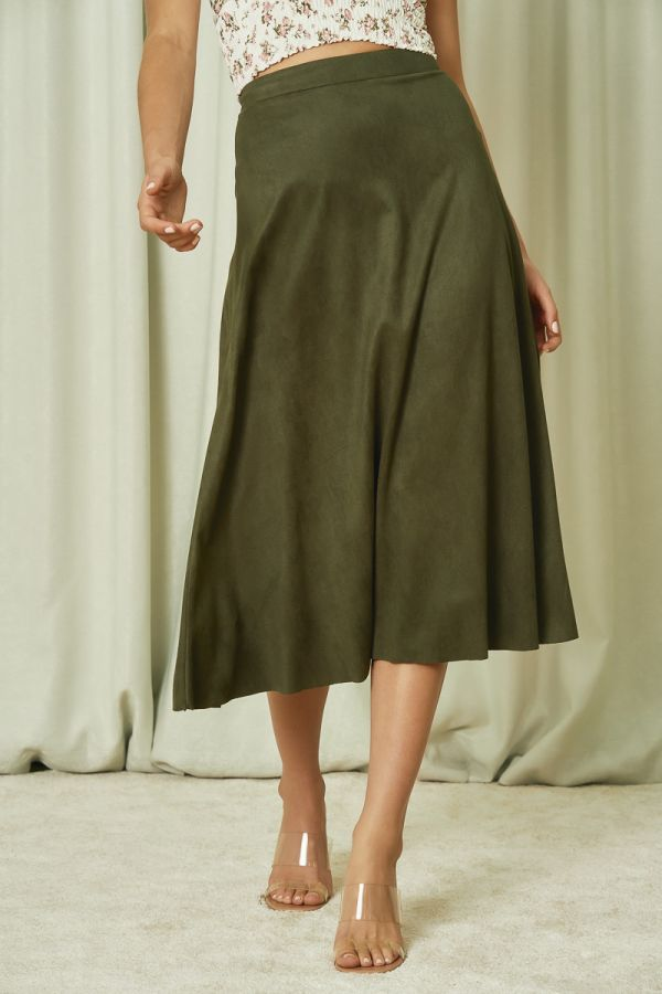 SUEDE MIDI SKIRT  (325216)