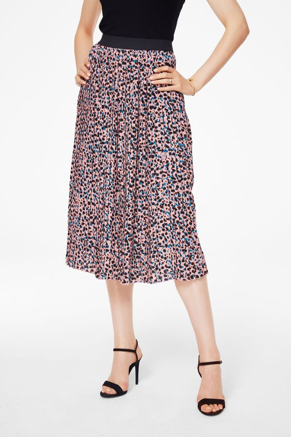 PLEATED MIDI SKIRT  (325291)