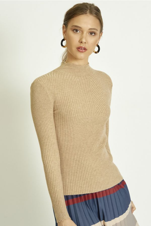 HIGH NECK KNIT TOP (325308)