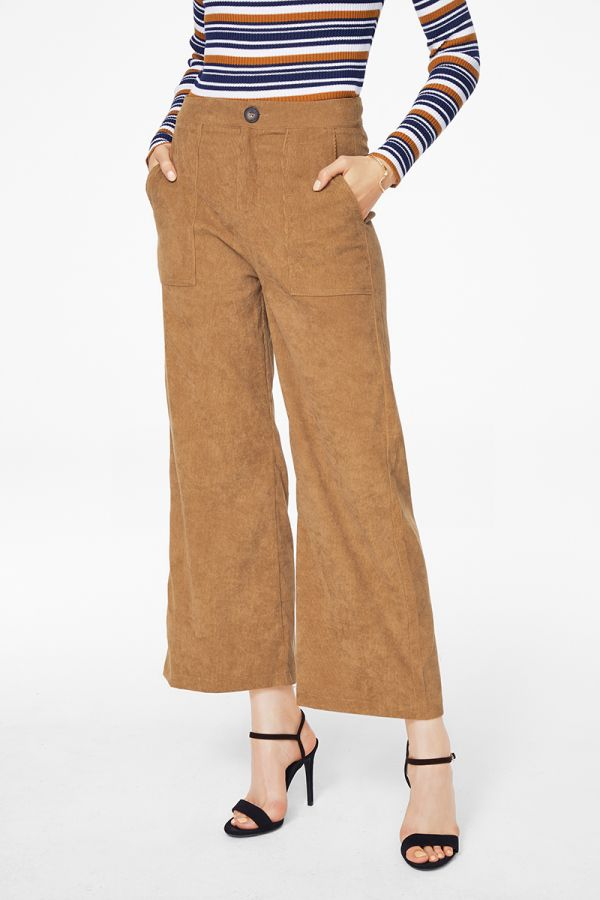 PATTERNED WIDE LEG PANTS (325420)