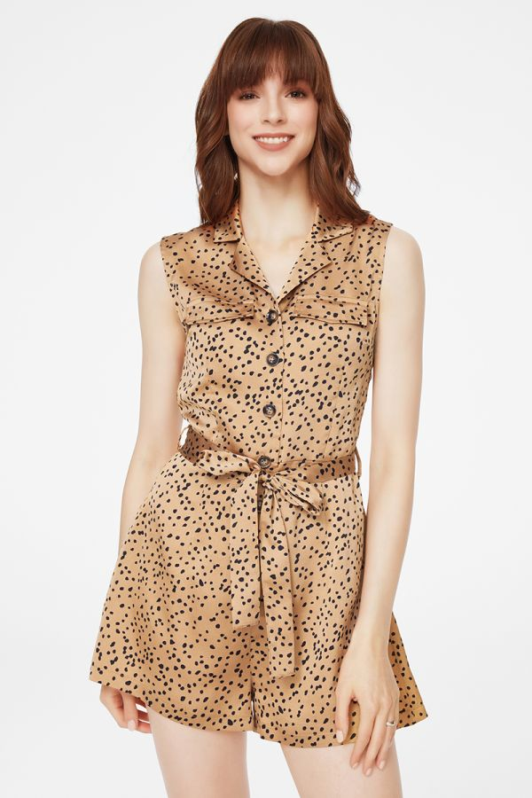 ANIMAL PRINT PLAYSUIT (325436)