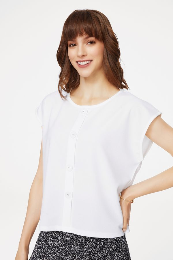 BUTTON DOWN TOP (325446)