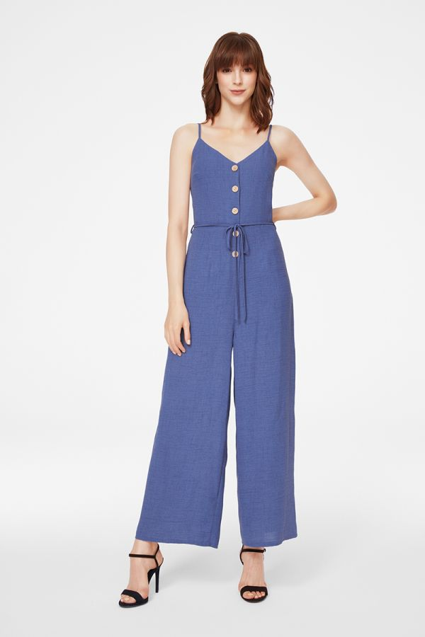 BUTTON DOWN JUMPSUIT (325490)