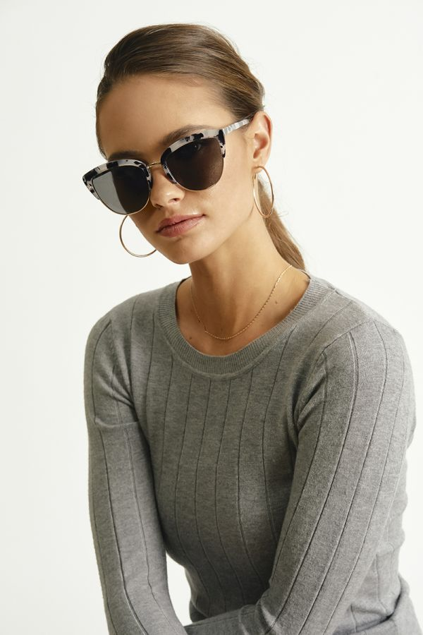 GREY TORTOISE SHELL SUNGLASSES (325504)