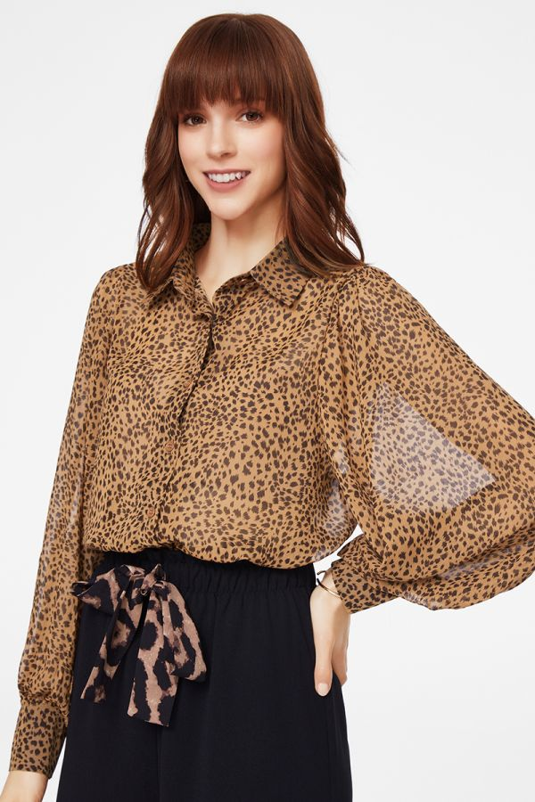 VOLUME SLEEVES SHIRT  (325546)