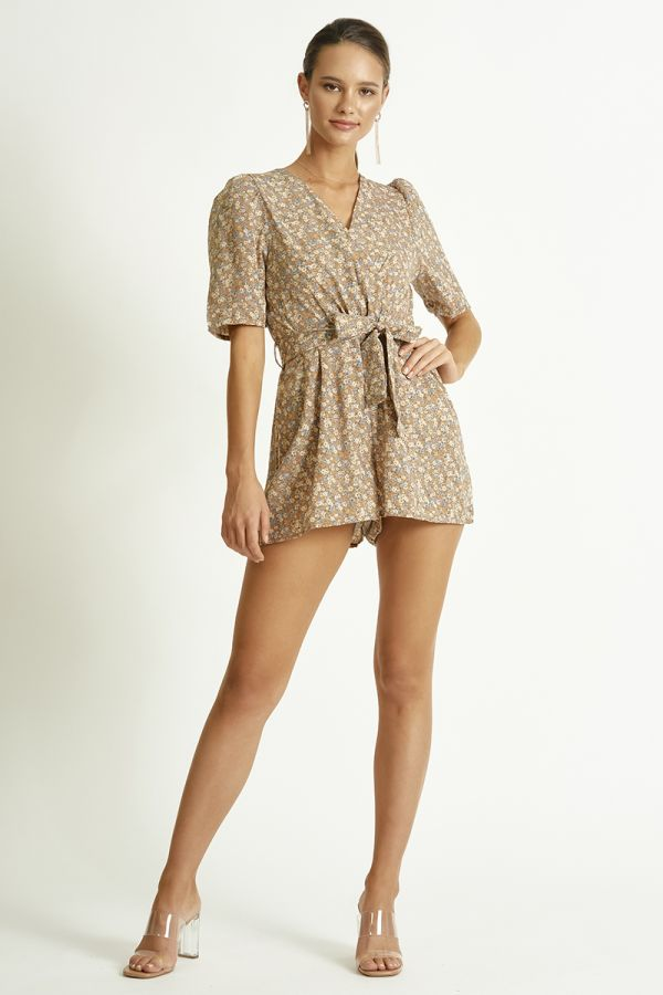 PUFF SLEEVE PLAYSUIT (325575)