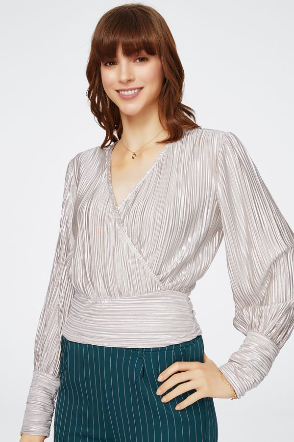 TEXTURED METALLIC TOP (325582)