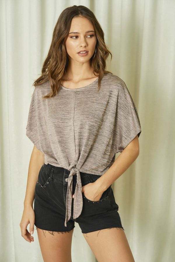 TIE UP KNIT LIKE TOP (325583)