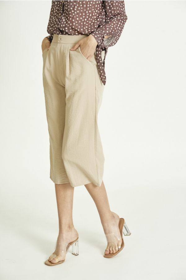 WIDE LEG CROPPED PANTS (325592)