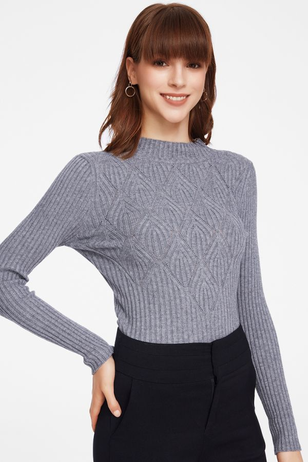 HIGH NECK KNIT TOP (325620)