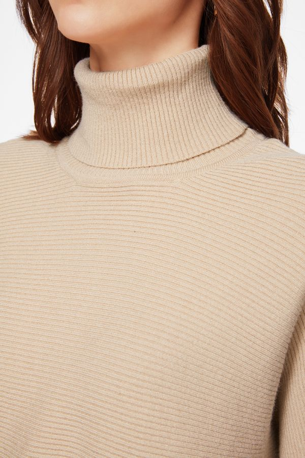 TURTLE NECK KNIT TOP  (325653)