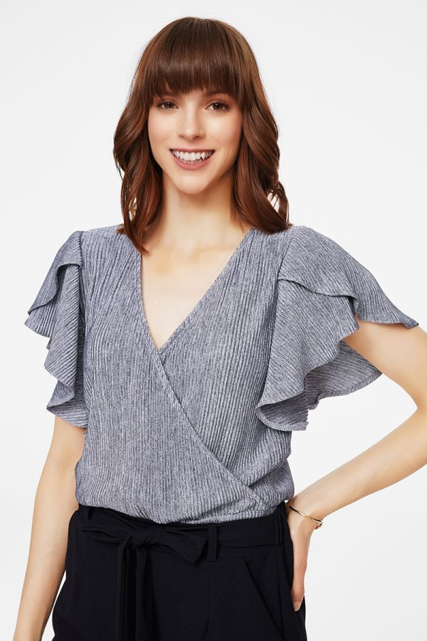 TWISTED FRONT 3/4 SLVS TOP (325665)