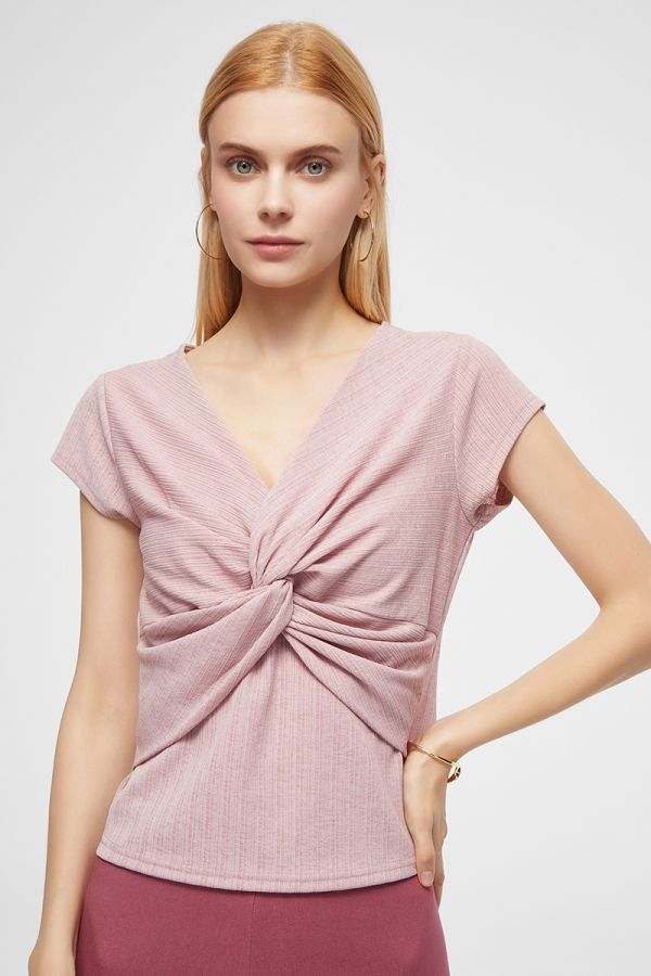 FRONT WAIST TWISTED TOP (325667)