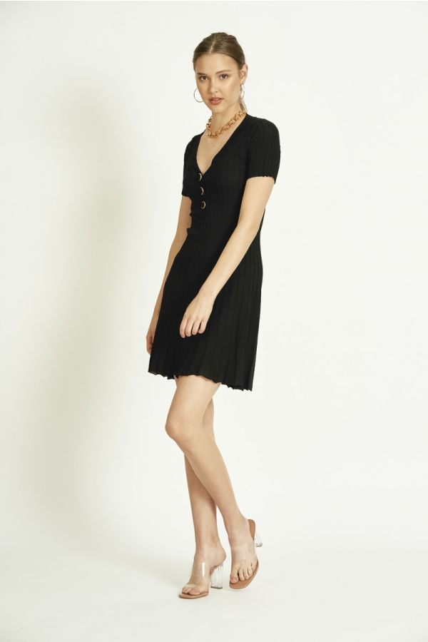 BUTTON DOWN KNIT DRESS (325689)