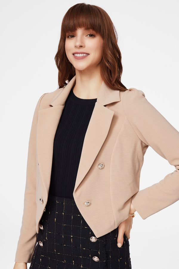 BUTTON DETAILED JACKET (325706)