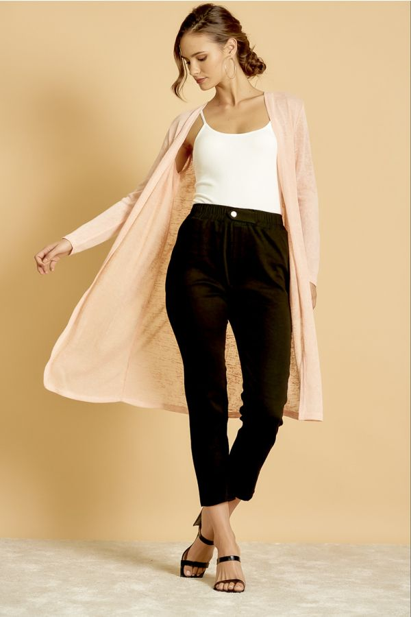 C&S LONG BASIC CARDIGAN  (325746)