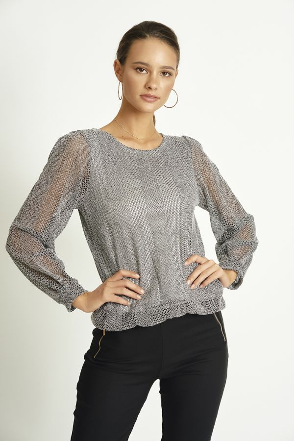 ROUND NECK KNIT TOP (325776)