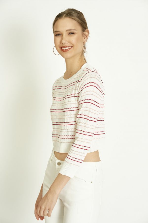 STRIPY KNIT TOP (325796)