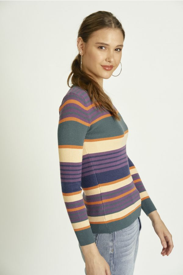 RIB BODY KNIT TOP (325797)