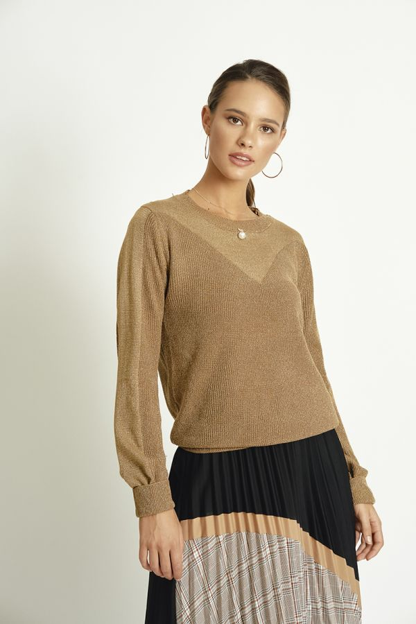 SHIMMER KNIT TOP (325799)