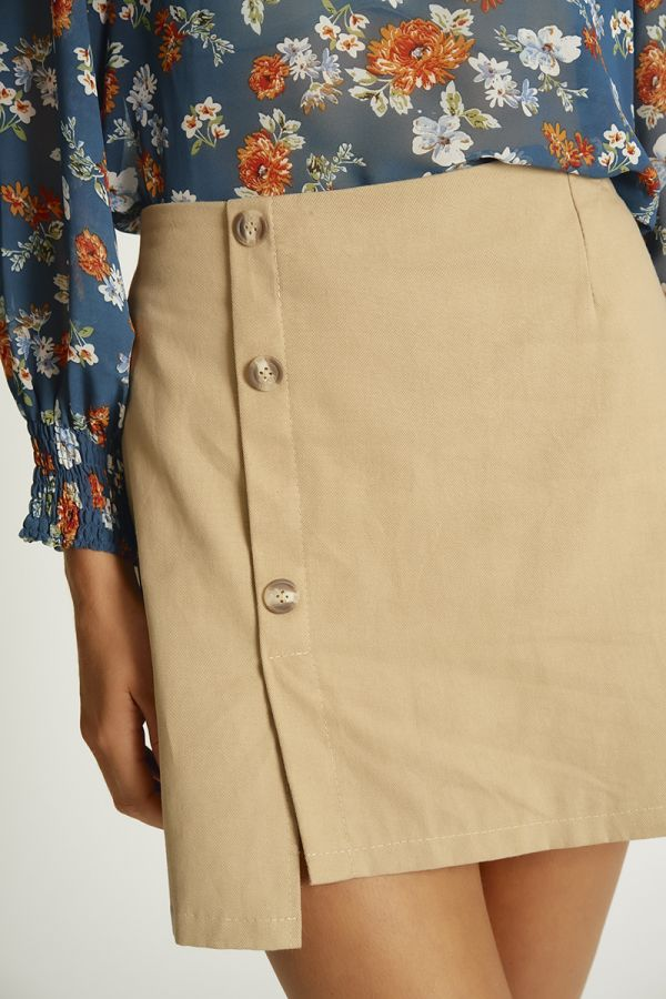 BUTTON DOWN MINI SKIRT (325847)